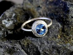 Water Queen White Gold 18K Engagement Ring by thisandthatgallery, $1020.00
