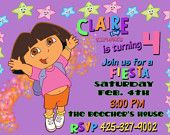 Dora The Explorer Dora & Friends Birthday Party Invitation and FREE Thank You Note Printable