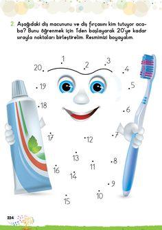 1. Sınıf Konu Anlatım EV ÇALIŞMALARI Dental Hygiene, Dental Health, Teaching Kids, Teeth, Dots, Medical, Education, Learning, School