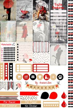 Chic Rain - Free Winter Stickers for Planners by AnacarLilian