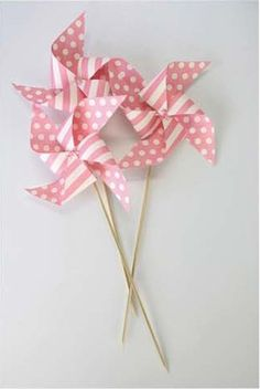 pink whirlies & polka dots!!!