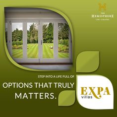 THE HEMISPHERE PRESENTS EXPA VILLA Step into a #lifestyle that is full of options. Step into The Hemisphere EXPA VILLAS. Exclusive #expandable 143 sq. yd. villas in the heart of #GreaterNoida , just opposite to #metro_station.