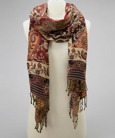 Take a look at this Brown & Black Paisley Scarf by Romance on #zulily today!