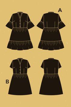 Myosotis Dress -- Sewing Pattern by Deer and Doe