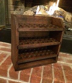 Essential oil storage shelf 72 ct  finished by MySquareWoodworking                                                                                                                                                                                 More