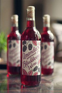 Homemade blackberry wine