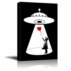 wall26 - Canvas Wall Art - UFO Abduction of the Heart Sha... https://www.amazon.com/dp/B01MZ2FMXB/ref=cm_sw_r_pi_dp_x_xgxHyb8JJT9BE