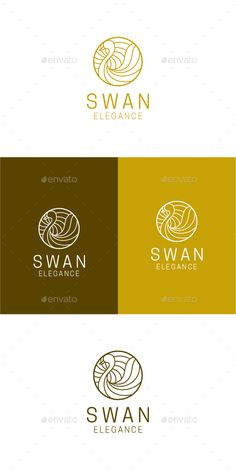 Swan Elegance - Animals #Logo Templates