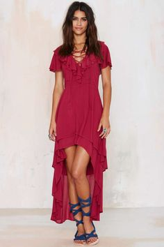 Nasty Gal Fiesta Forever Asymmetrical Dress | Shop Clothes at Nasty Gal!