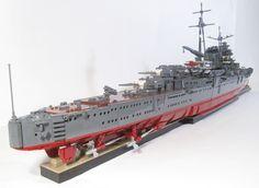 Finally completed my scale Lego model of the light cruiser MOGAMI. Lego Ww2, Lego Army, Lego Submarine, Lego Boat, Micro Lego, Cool Lego Creations, Lego Worlds, Lego Group, Military Aircraft