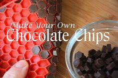Make Your Own Chocolate Chips (dairy-free, refined sugar-free) 3 tablespoons coconut oil 6 tablespoons cocoa powder 2 tablespoons maple sugar/coconut sugar crystals