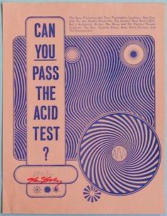 Rare acid test poster
