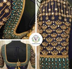 Blouse Back Neck Designs, Blouse Designs Silk, Pattu Saree Blouse Designs, Lehenga Blouse, Blouse Patterns, Hand Work Design, Hand Work Blouse Design, Wedding Saree Blouse Designs, Wedding Blouses
