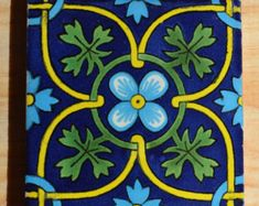 """90 Mexican Talavera Tiles handmade-hand painted 4 """"X Mexican Hacienda, Mexican Art, Mexican Tiles, Talavera Pottery, Light Blue Flowers, Clay Tiles, Custom Boxes, Mexico, Hand Painted"""