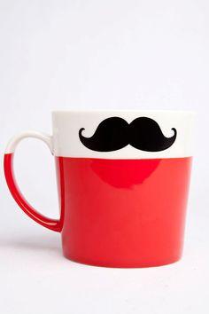 Mustache Mug:  temporary-facial-hair-and-drinkin'-mug-in-one.