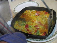 2247 #Paleo onion scramble w #asparigus and sweet #orangepepper. NOT vegan