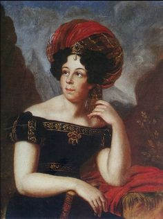 Ekaterina Petrovna Lunina by Anthelme Francois Lagrenee, 1820.  (thanks to Facebook user Fashion History for finding/posting it.)