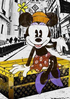 Minnie NYC #hi02 A1size / 1colors / Disney Minnie Original Illust Poster Homage