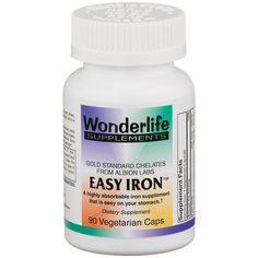 Easy Iron Gold Standard Chelates (90 ct)  Wonderlife