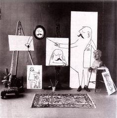Saul Steinberg - that rare thing in the visual arts - a mixture of aesthetic genius and humour!