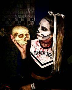 Halloween  makeup , vampires, dead, girl, cheerleader, blood, makeup