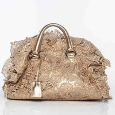 ecce4abe9c Prada champagne gold lace purse    Pinned by Dauphine Magazine x  Castlefield - Curated by