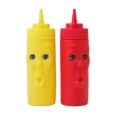 Blinking Ketchup and Mustard Bottles
