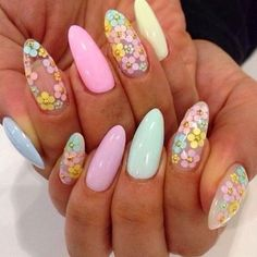 """66 Likes, 1 Comments - Margarita Bloom (@margaritabloom) on Instagram: """"How gorgeous are these nails!? Pastel spring prettiness!!! I might have to recreate this. …"""""""