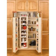 """45"""" Pantry Swing Out kit consists of two swing out units and two door mount units with adjustable mounting brackets."""