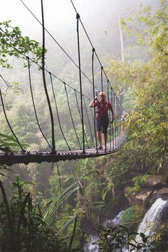 Ziplining in Lao jungle