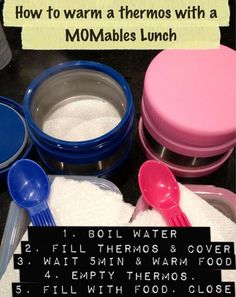 Kids Hot Lunch in a Thermos:  If your food isn't keeping warm as long as you thought, you need to pre-pheat your thermos container for 5 min. with hot boiled water!