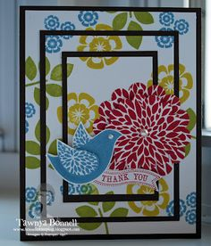 Betsy's Blossoms Triple Layer Card - thanks Tanya!