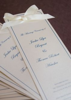 Make your own wedding programs! This DIY is easy to do and on your wallet. Save
