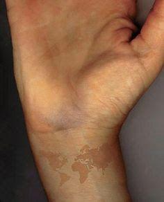world map tattoo wrist - Google Search
