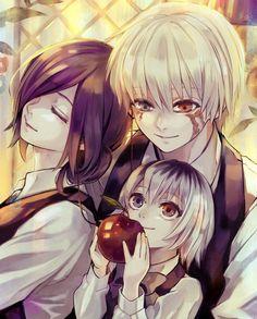 Tokyo ghoul/the kaneki family Manga Tokyo Ghoul, Ken Kaneki Tokyo Ghoul, Dark Fantasy, Touka Kaneki, Manga Anime, Tokyo Ghoul Wallpapers, Familia Anime, Another Anime, Manga Games