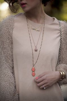 Color inspiration:  taupy-gray + coral
