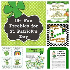 15+  St. Patrick's Day Freebies and Fun Ideas