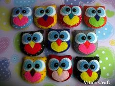 Cute Owls Felt