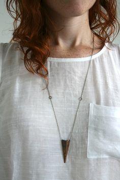 Copper Shield Necklace - Laura Lombardi - Designer Spotlight Uncovet
