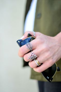 Portuguese blogger Maria Guedes of Stylista sporting her cool ring style. #PANDORAring #PANDORAloves