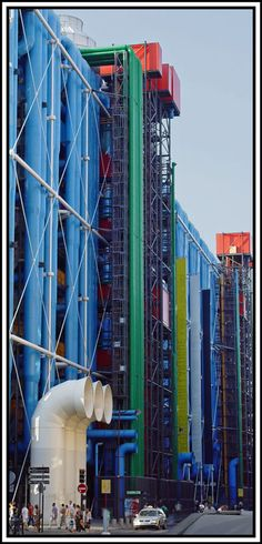 """Right in de middle of de city sits this quirky n oddly appealing structure known as Center Pompidou or """"Beaubourg"""" in Paris, IIe-de-France_ North France"""