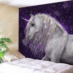 Dreamlike Unicorn Animal Wall Hanging Tapestry - PURPLE