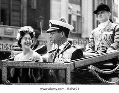 : Queen Elizabeth with King Bhumipol monarch of Thailand in procession from Victoria Station to Buckingham Palace King Bhumipol an - B4PW23 from Alamy's library of millions of high resolution stock photos, illustrations and vectors.
