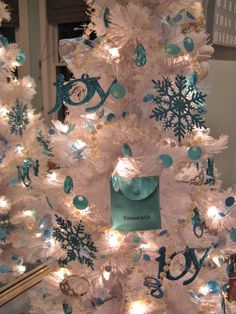 44519b5c1 Tiffany themed Christmas Tree Teal Christmas, Christmas Tree Themes,  Christmas Fairy, Holiday Tree