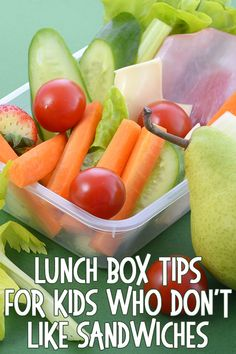 I am not a big sandwich eater and neither is my daughter which makes school day lunches tricky. Easy Lunch Boxes, Lunch Box Recipes, Healthy Snacks For Kids, Healthy Recipes, Healthy Food, Quick Snacks, Healthy Treats, Delicious Recipes, Cold Picnic Foods