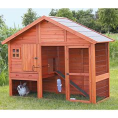 Pawhut Deluxe Large Wooden Bunny Rabbit Hutch / Chicken Coop w/ Large Out. If you are looking to keep rabbits, guinea pigs, chickens or other small animals in your backyard but don't know where to look to find a high quality habit Rabbit Hutch Plans, Rabbit Hutches, Outdoor Rabbit Hutch, Indoor Rabbit, Bunny Cages, Rabbit Cages, Large Rabbits, Pet Cage, Pet Rabbit