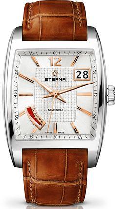 Eterna Watch Madison Eight Days #bezel-fixed #bracelet-strap-alligator…