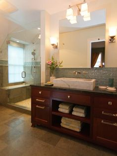 Photo of White New Traditional Bathroom project in Portland, OR by Neil Kelly Co