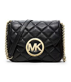 "MICHAEL Michael Kors Fulton Quilted Small CrossBody Bag #Dillards  ""I'm pinning this to participate in the Dillard's How I Wear My Kors Sweepstakes. I could possibly win a Michael Kors handbag valued at $398, jewelry valued at $385 or watch and sunglasses valued at $294! #HowIWearMyKors."""