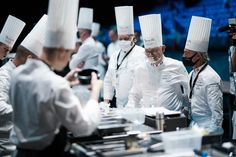 Chefs around a candidate kitchen, looking for perfection #bocusedor #roadtolyon Bocuse Dor, Chefs, Europe, Kitchen, Cooking, Kitchens, Cuisine, Cucina